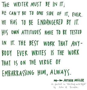 writing Arthur Miller quote