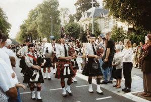 Bagpipe parade