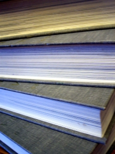 book stack edges